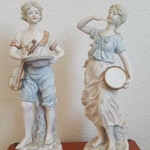 Tall Vintage Figurine Candrea Porcelain Set
